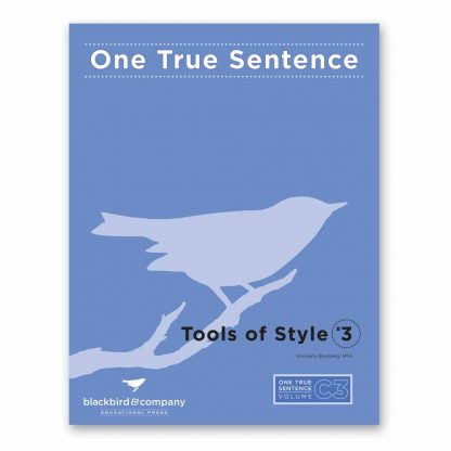 One True Sentence C3-Tools of Style